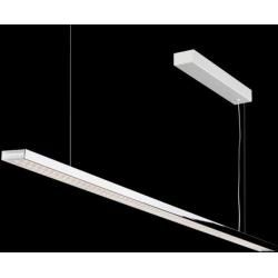 Photo of Nimbus L 120 pendant luminaire, recessed chrome-plated with gesture dimming
