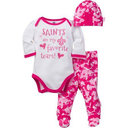 NFL New Orleans Saints Baby Girls Bodysuit 56dd921cb