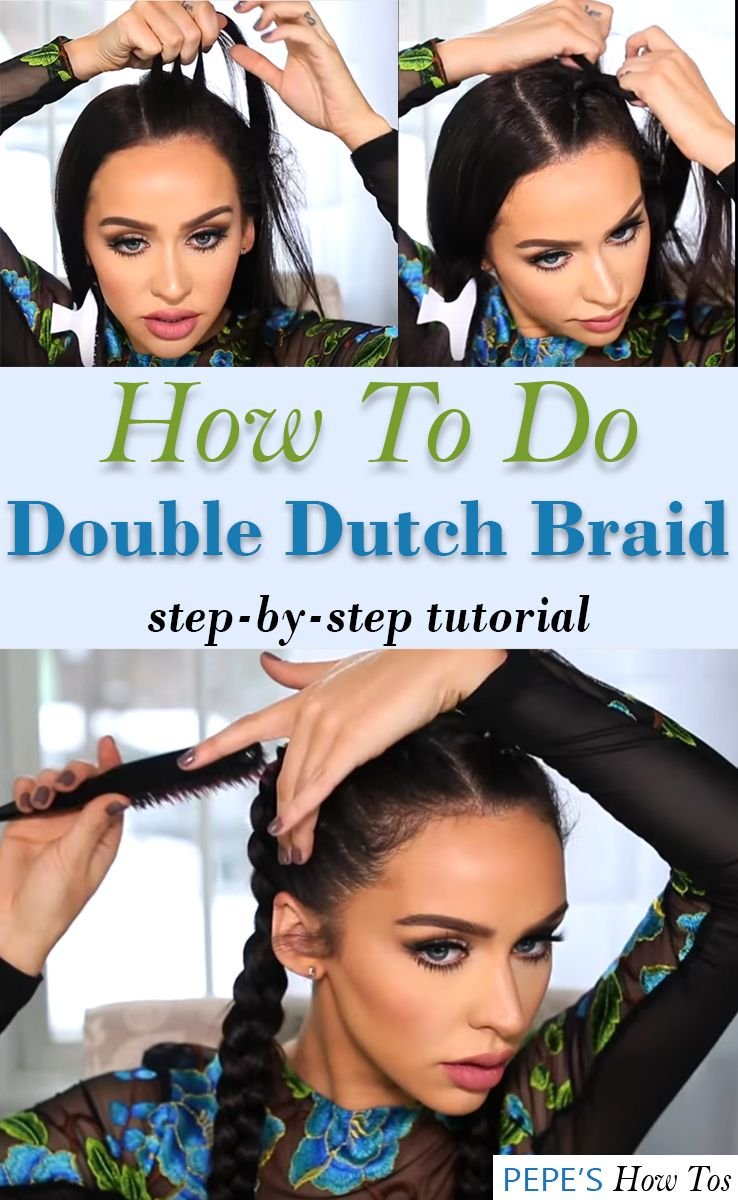How To Double Dutch Braid Your Own Hair
