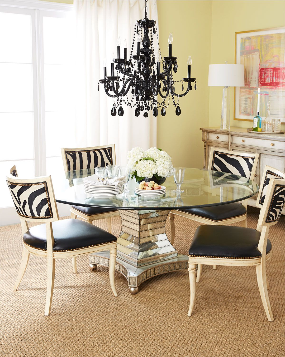 Erlinda Dining Table  Glass Top Dining Table Round Glass And Stunning Modern Chic Dining Room Inspiration
