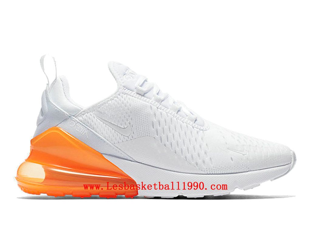 New Nike Air Max 270 White Orange Chaussures Nike Basket Pas