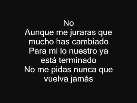 No Alejandro Fernandez Con Letra Youtube Alejandro