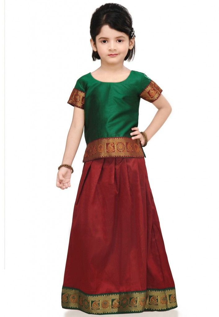 4ec1fbed913fe Pavda Set @ UtsavFashion.com Indian Skirt And Top, Silk Skirt, All Kids