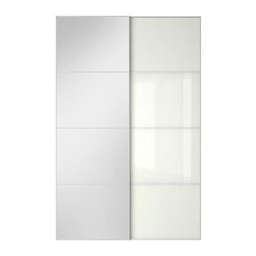 auli f rvik portes coulissantes 2 pi ces verre miroir verre blanc id verri re pinterest. Black Bedroom Furniture Sets. Home Design Ideas