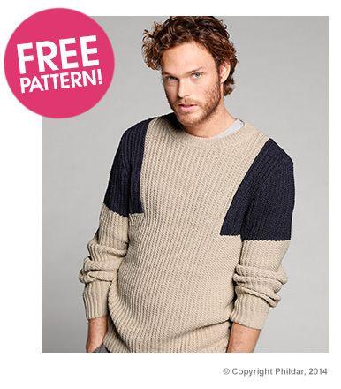 Phildar Sweater Free pattern   Deramores   knitting   Pinterest ...