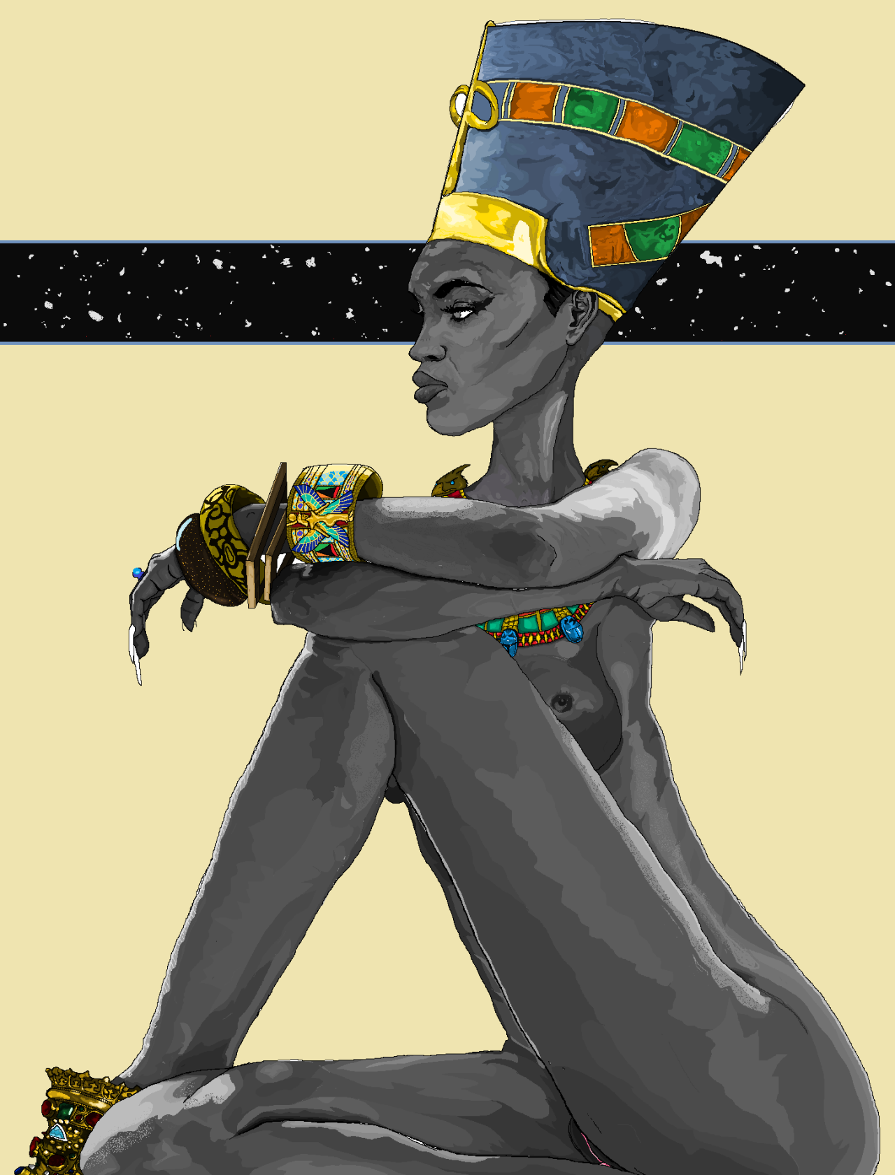 Fyblackwomenartnefertiti By Watson Mere Art Created -4825