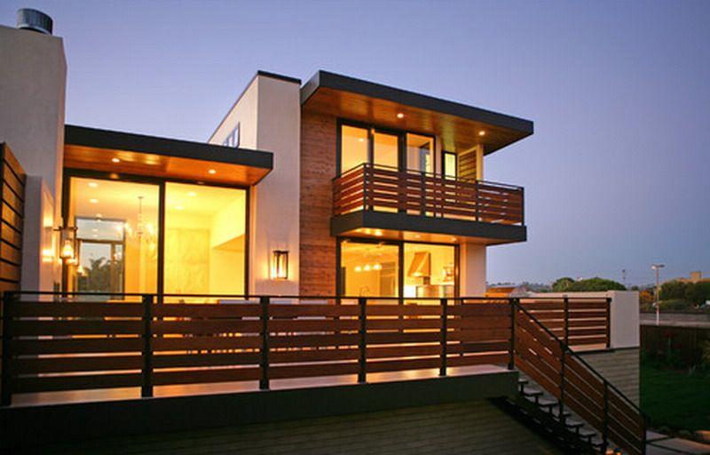 Nice Contemporary Wooden Outdoor Patio Railing Exterior ...