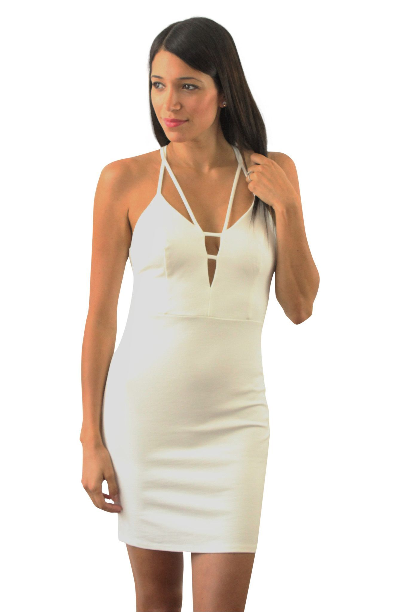 6f2e0b04e0 This sexy white bodycon dress is perfect for a night out. Have all eyes on  your in this fitted white dress. Dress features a zip up back with flirty  top ...