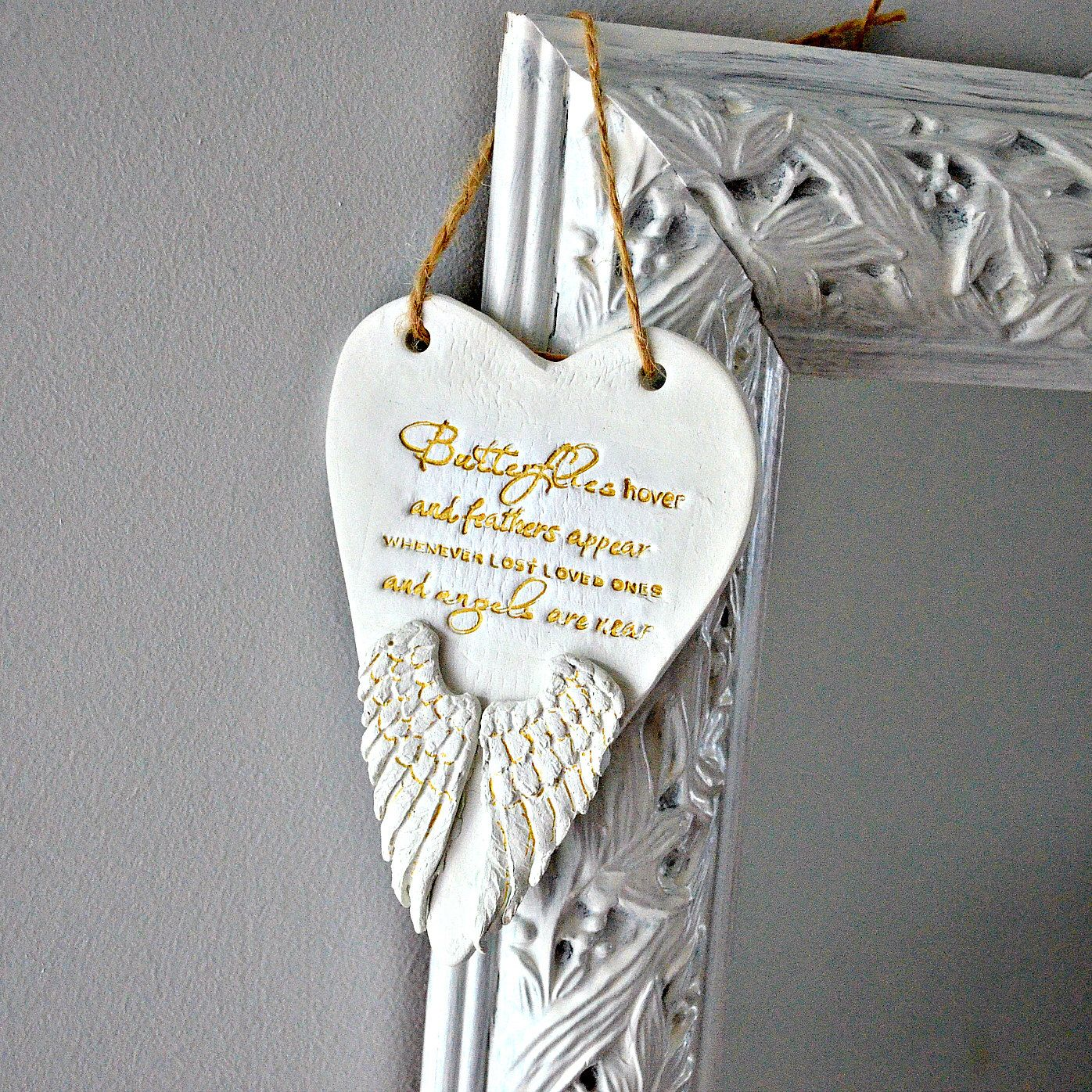 Ornaments for loved ones lost - In Memory Ornament Memorial Gift Angel Wings Remembrance Keepsake Death Of Loved One Feathers Appear When Angels Are Near