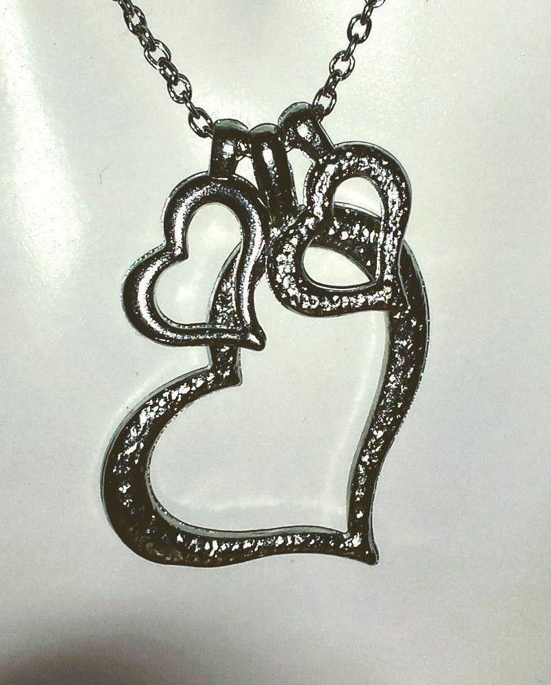 Triple heart pendant necklace love open heart jewelry fashion gift triple heart pendant necklace love open heart jewelry fashion gift trendy aloadofball Images