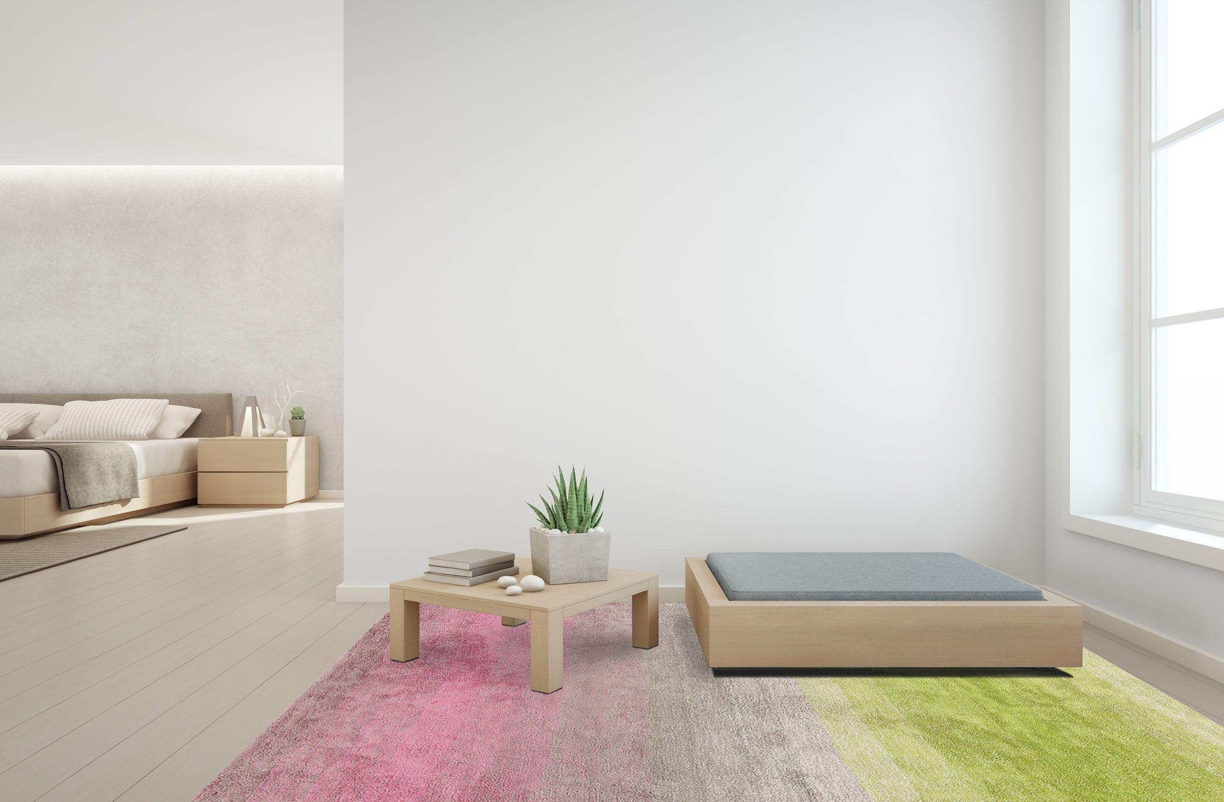 [en]Modern Shading Carpet Light Pink Ecru Green[it