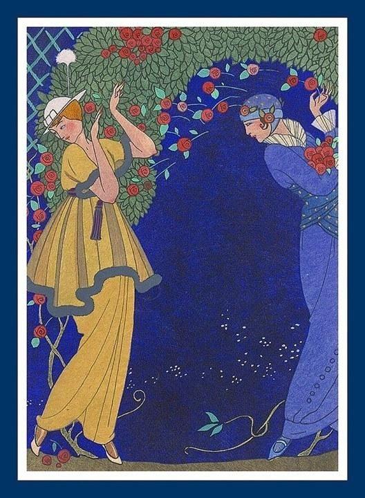 George Barbier(1882ー1932)「Roses dans la Nuit」(1914)