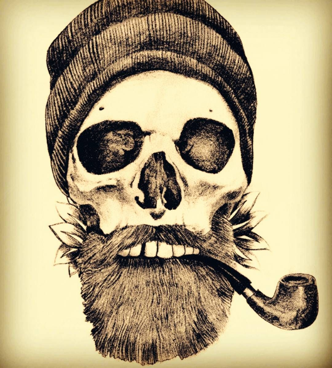 3f2f623f2a5e2 grave before #shave | Lucky Anchor | Beard tattoo, Skull tattoos ...