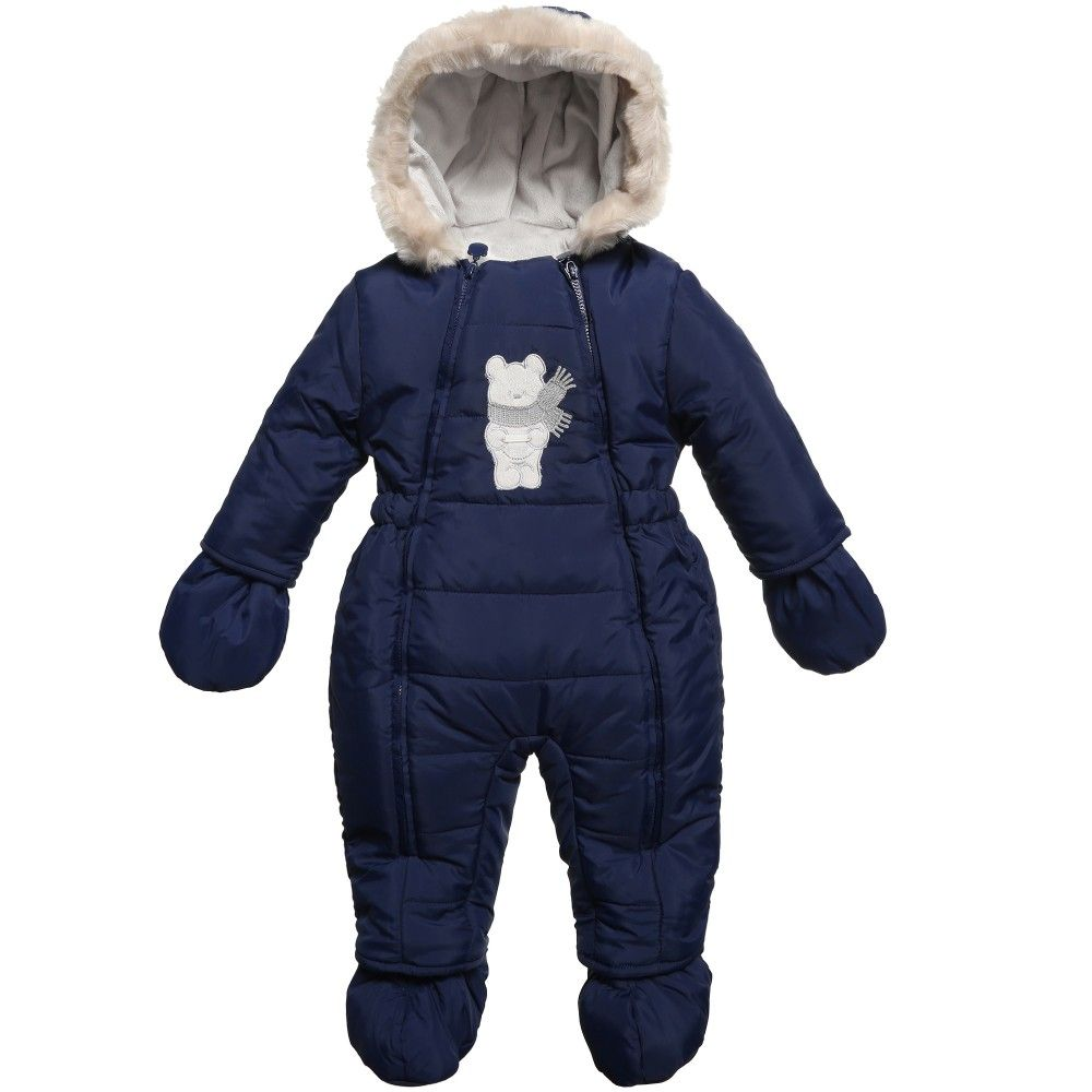 15bdeb7bdcd0 Navy Blue Padded Snowsuit
