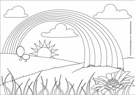 Rainbow Colouring Page 2 Coloring Pages Rainbow Colors Rainbow