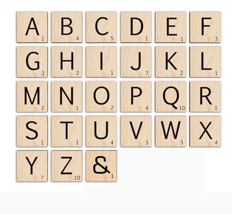 Wall-Art Holzbild Scrabble Deko Buchstaben 10cm, T, (1 St.)