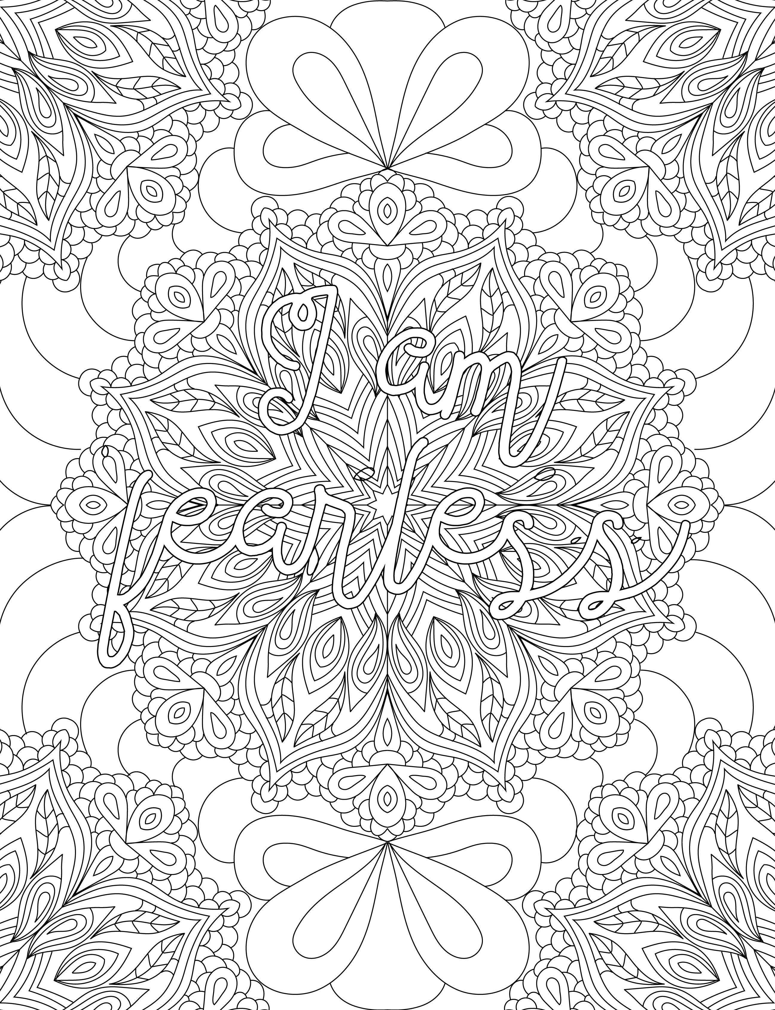 Pin On Affirmations Coloring Book For Adults