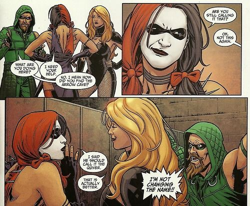 harley quinn and green arrow inspired by comic books