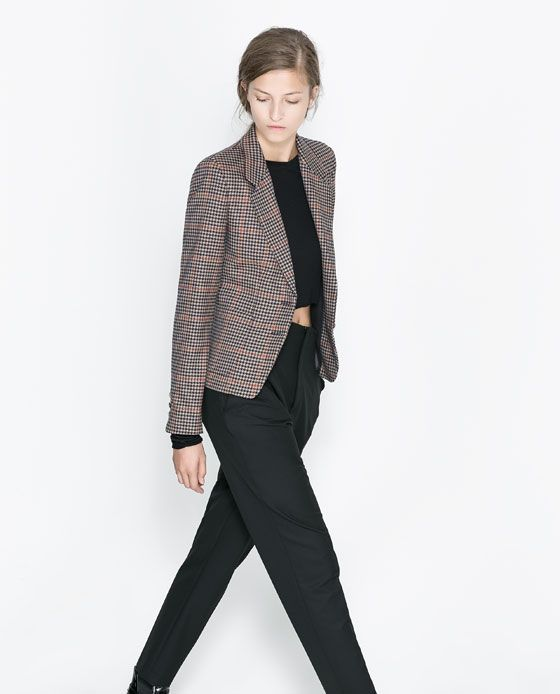 Blazers Combination: CHECKED BLAZER WITH COMBINATION LINING
