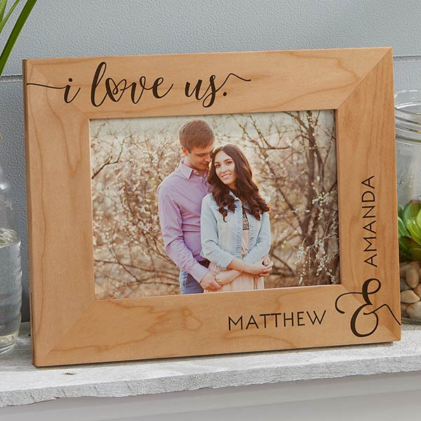 I Love Us 5x7 Personalized Picture Frame Picture Frame Crafts