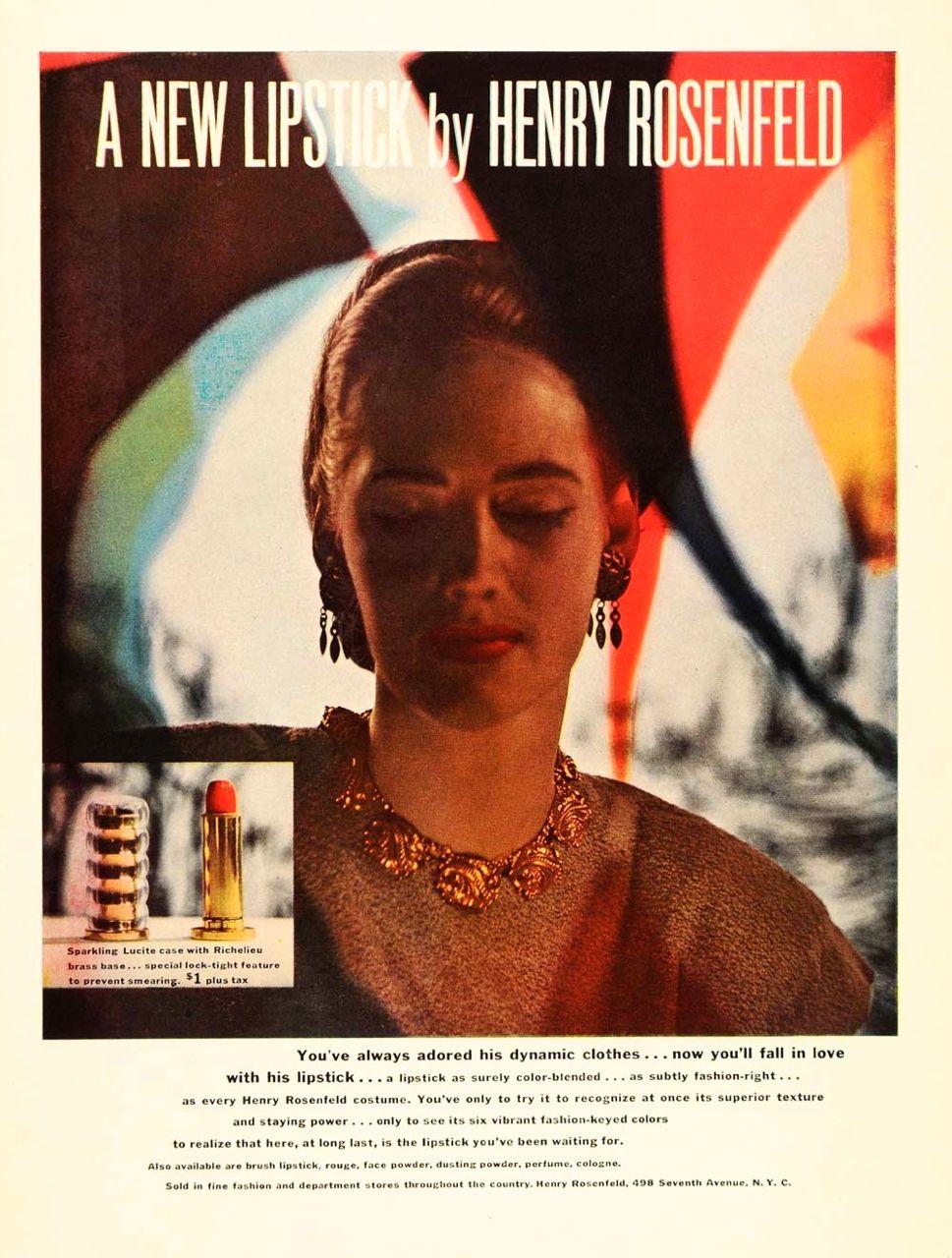 Henry Rosenfeld Lipstick Ad 1940 S Vintage Fashion Vintage