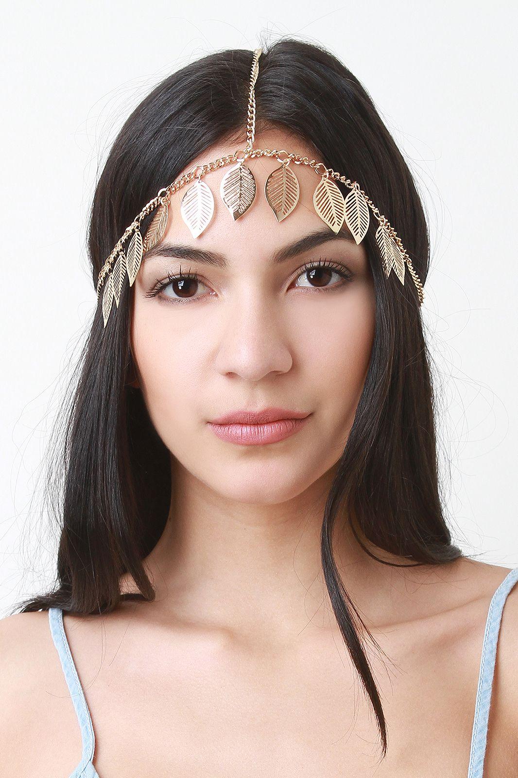 Gilded Leaves Head Chain Head Jewelry 84861184145