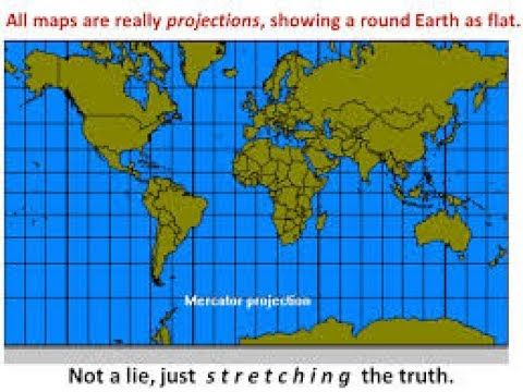 FLAT MAP AND LATITUDE LONGITUDE.   FLAT EARTH   Round earth, Map