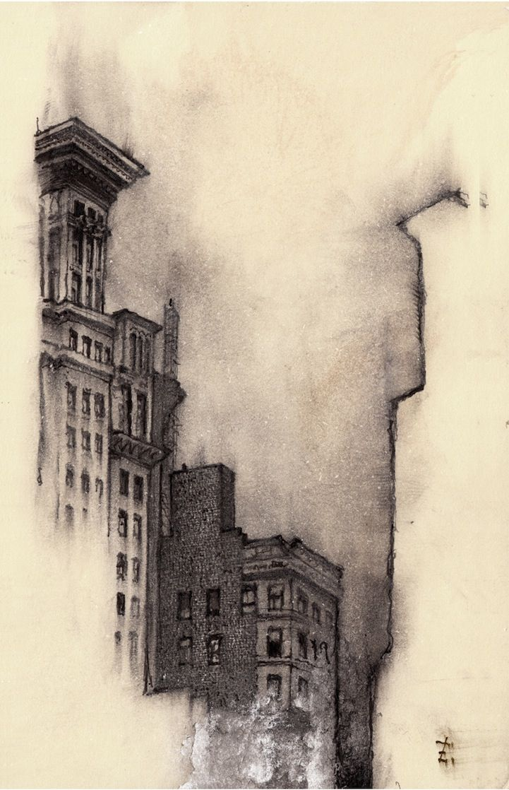 Artist Sketches Each Lonely City He Moves To City Drawing Pencil Art Drawings Charcoal Art