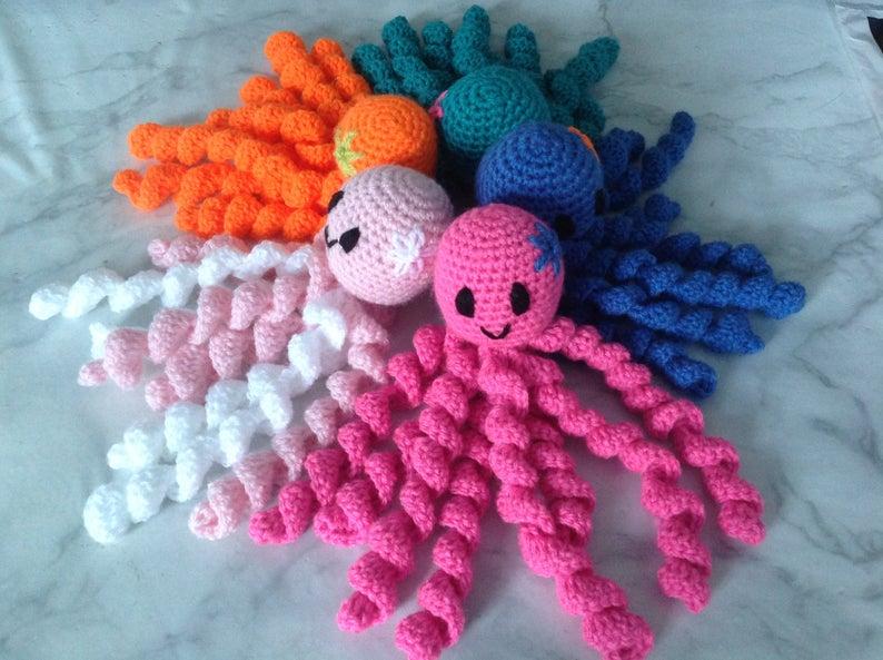 Crochet Octopus for Premature Baby, Comforter, Baby Shower Gift #crochetoctopus