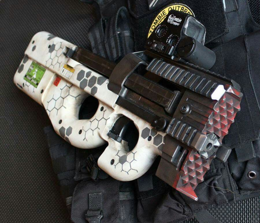 Custom Painted Airsoft P90 Zombie strike | Guns and gear