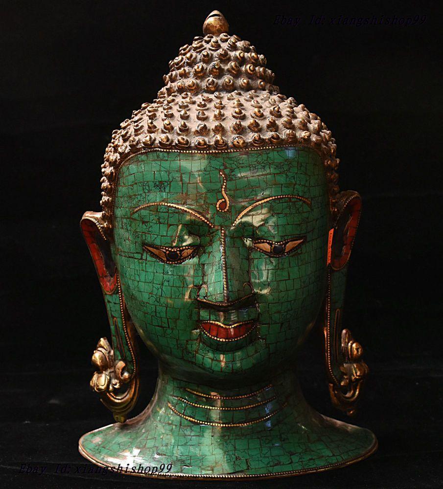 "11"" Tibetan Buddhist handmade copper statue mikky gilt Garuda bird Buddha"