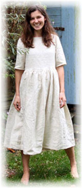 31c7ff4d94efd Patron robe manche 3 4 à imprimer - Chez elkalin.com   Fashion ...