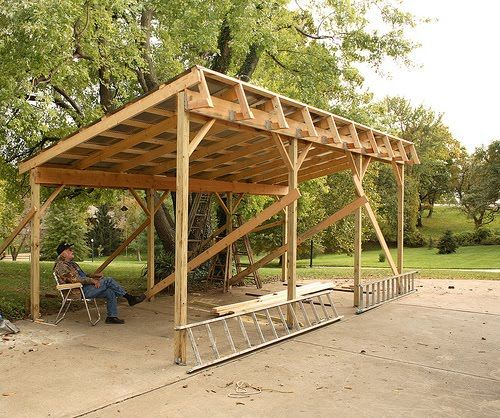 Tractor Shed Google Search Hubby Project Firewood Shed