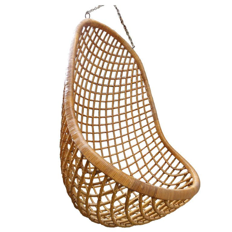 Lovely Rattan Hanging Chair Rohe Noordwolde The Netherlands 1960u0027s
