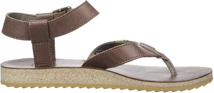   Teva Women's Original Leather Sandal, Brown, 7