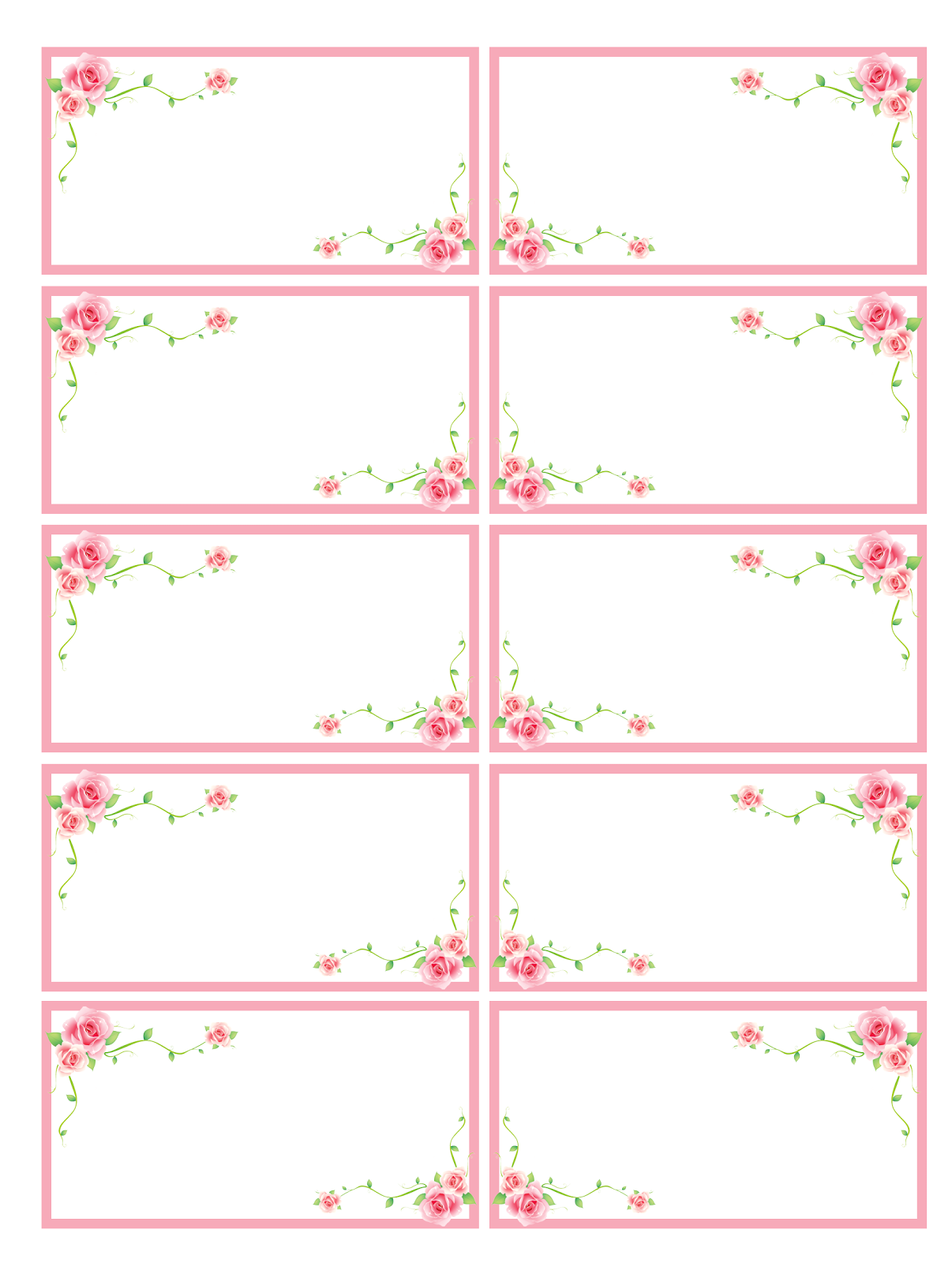 il mio angolo creativo: Etichette fiorite | < Printables ...
