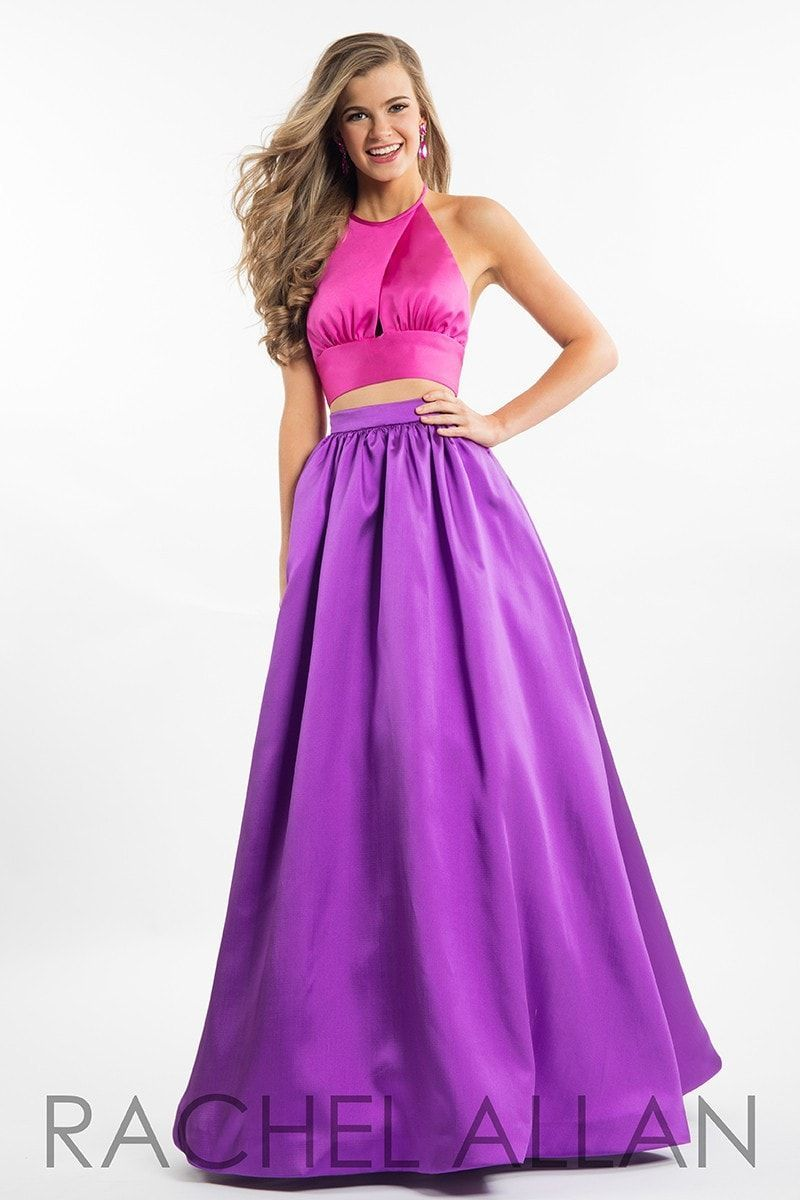 Be couture and flashy in this two piece ball gown with no beading