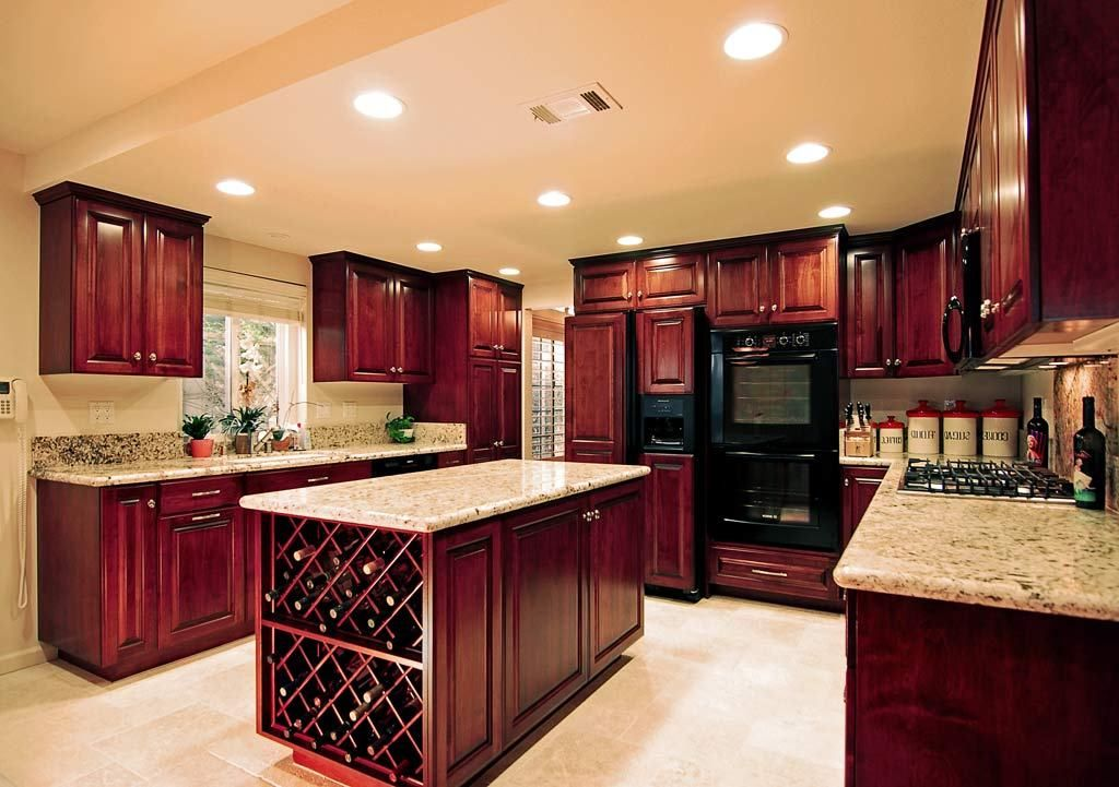 cherry cabinet kitchen ideas - Google Search | Painted ...