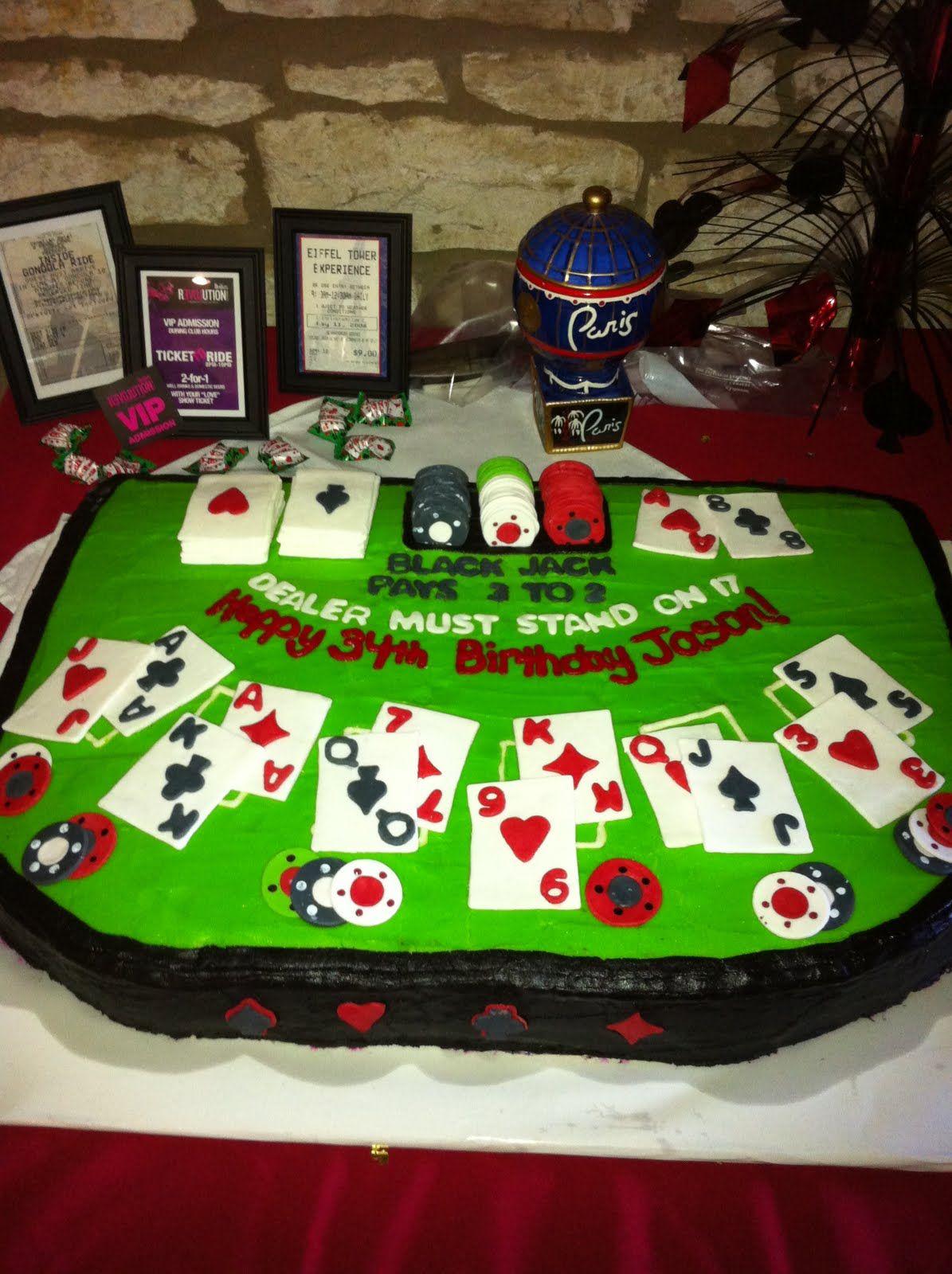 Blackjack cake casino cakes poker casino night food