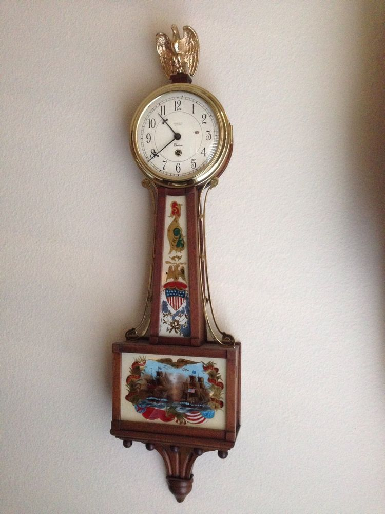 Rare Antique Working Tiffany Co Chelsea Banjo Clock Battle Of Lake Erie 1813 Clock Rare Antique Vintage Tiffany