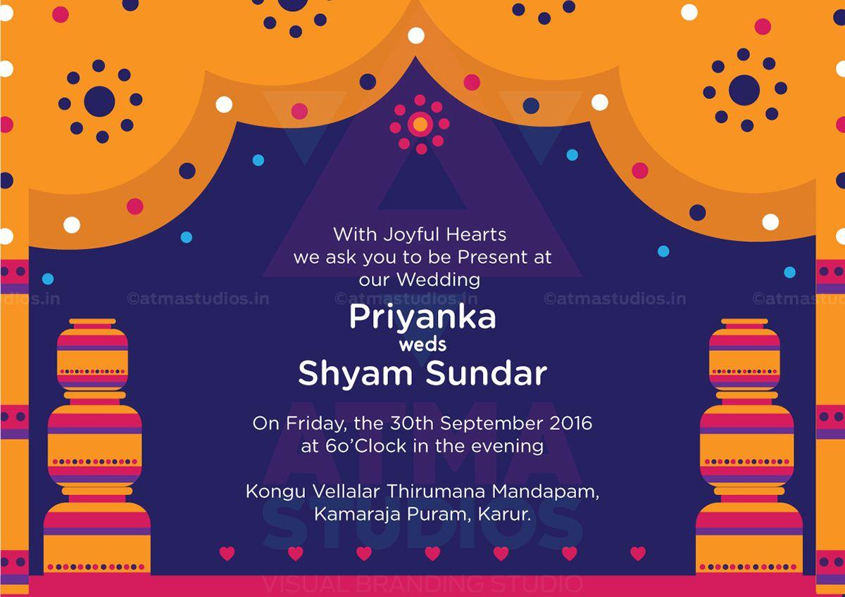Vivid Indian Wedding Invite Design Print Ready Invite indian