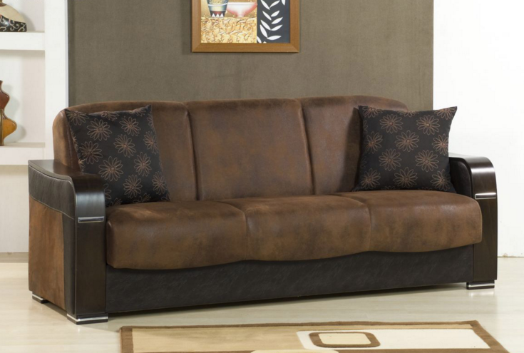 Luxurious Sofa Beds Brown For Elegant Living Room