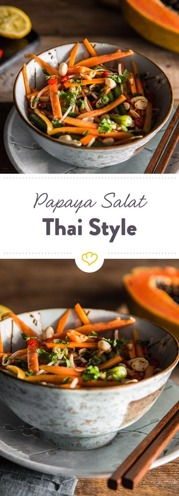 Photo of Thailändischer Papaya-Salat mit Erdnüssen und Chili-Dressing