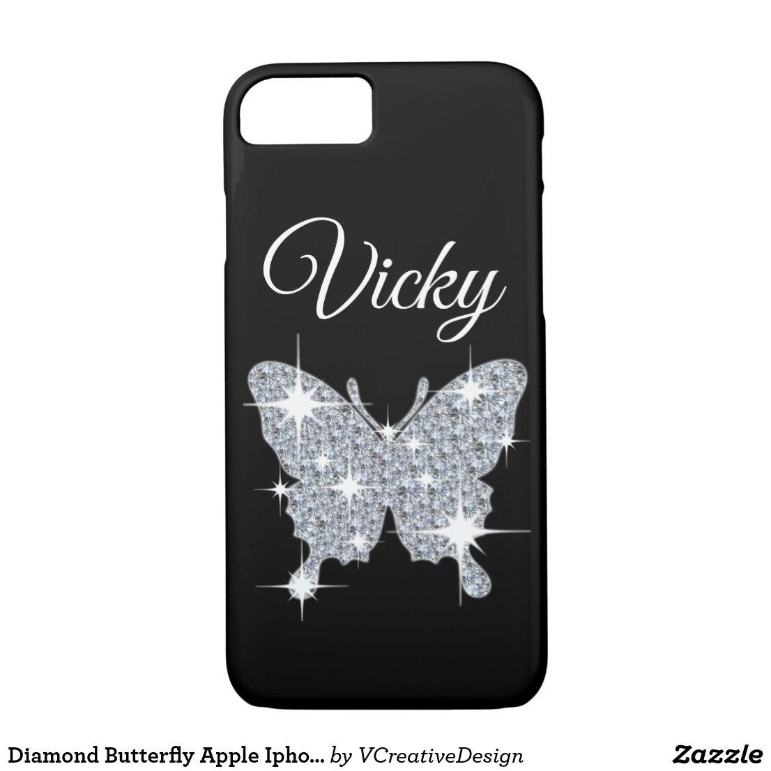 Diamond butterfly apple iphone 78 case iphone case