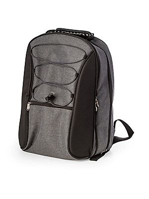 Bey-Berk Canvas Picnic Backpack - No Color - Size No Size