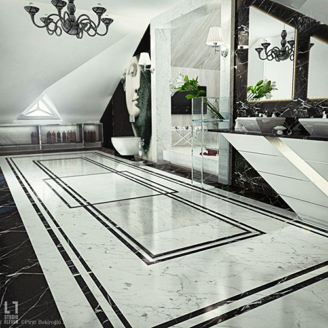 Salle de bain de luxe au design modern et chic | Decorating