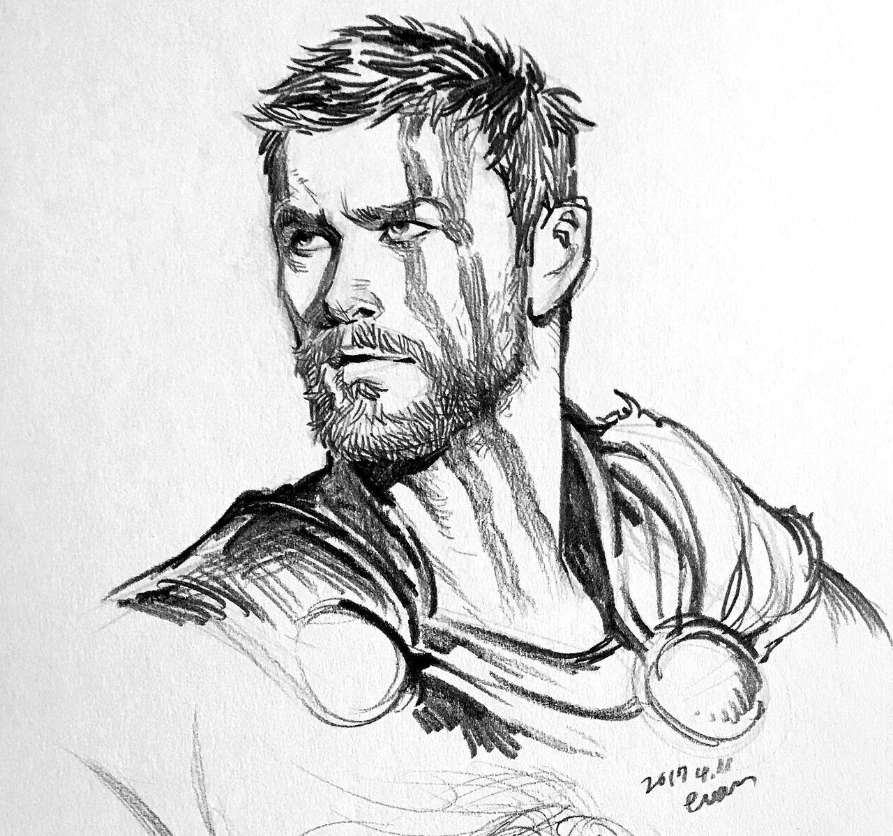 Resultado De Imagem Para Thor Chris Hemsworth Infinity War Dibujo