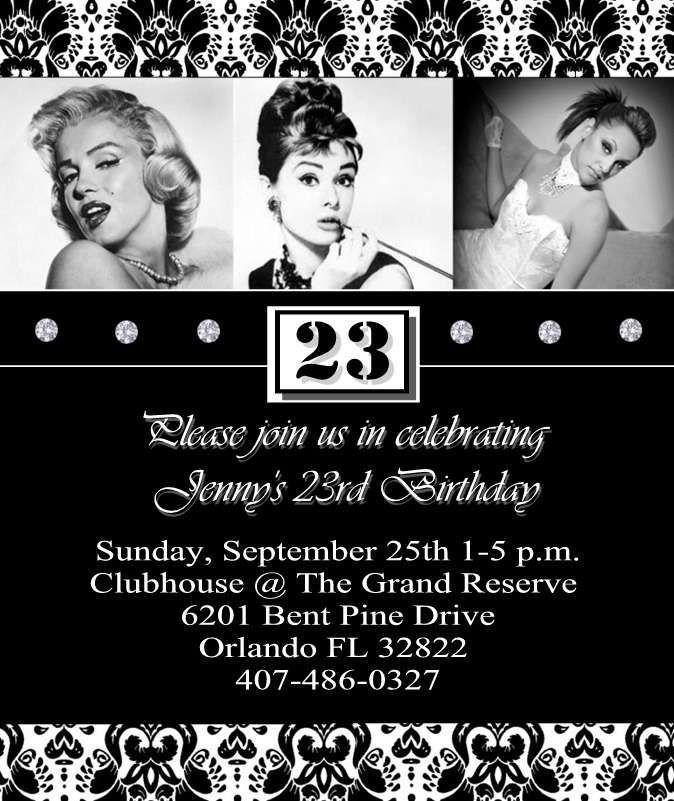 Marilyn Monroe / Audrey Hepburn Birthday Party Ideas | 23rd ...
