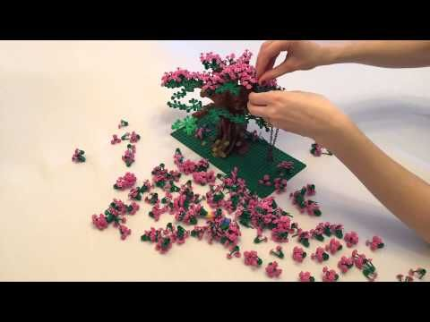 Build A Beautiful Tree The Ldd File Is Simply For The Tree Trunk And Initial Branches Check Out The Video Of Addi Lego Tree Cherry Blossom Tree Blossom Trees
