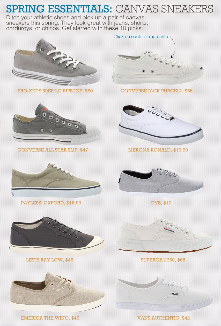Spring Essentials: Canvas Shoes with 10 Picks | Shoes with